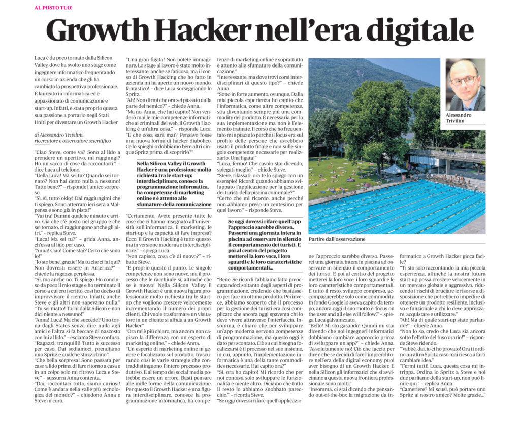 Growth Hacker nell'era digitale