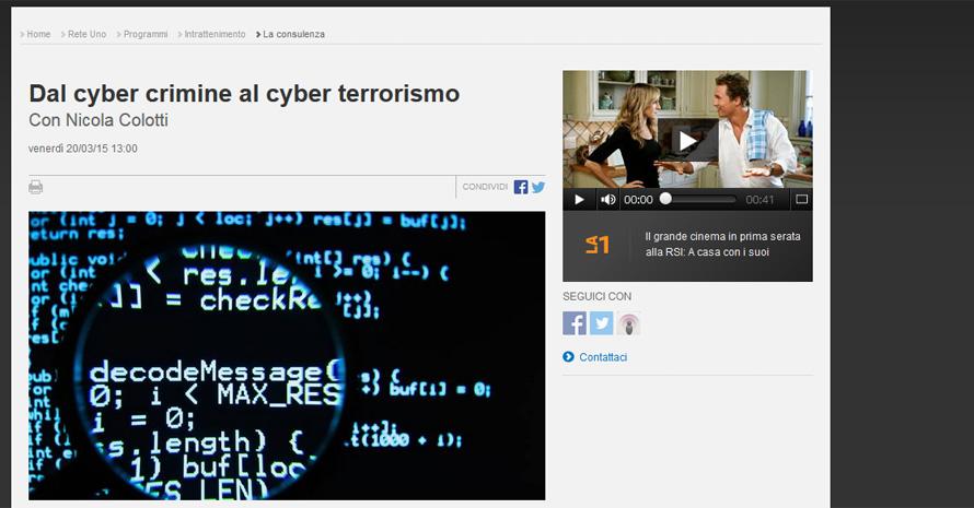 Dal Cyber Crime al Cyber Terrorismo