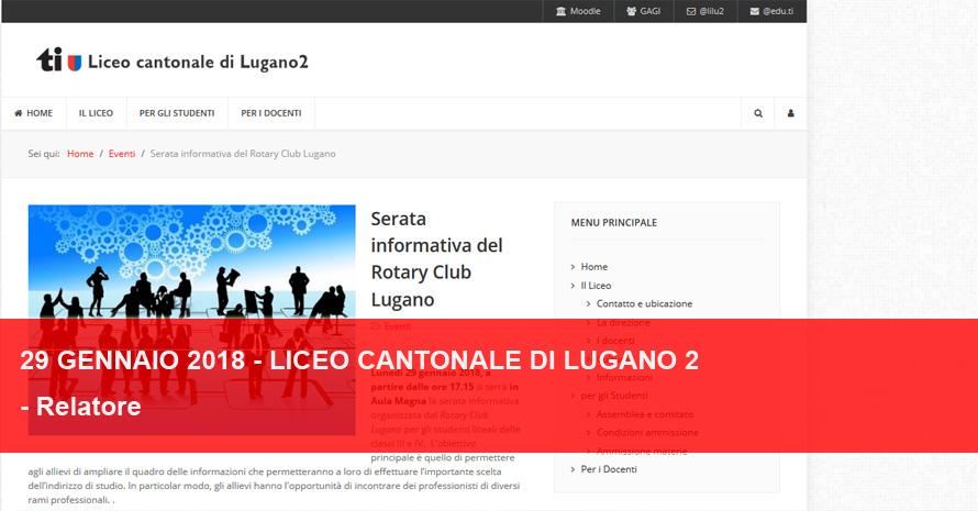 Rotary Club Lugano - Serata Liceali