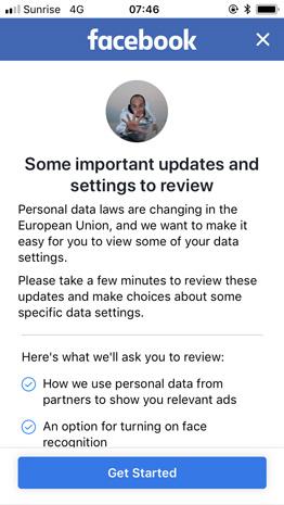 facebook e dati