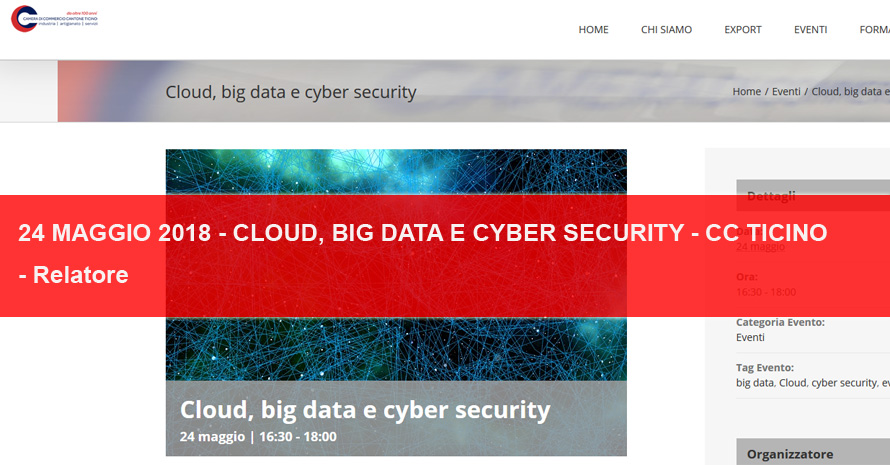 cloud, big data e cyber securtiy