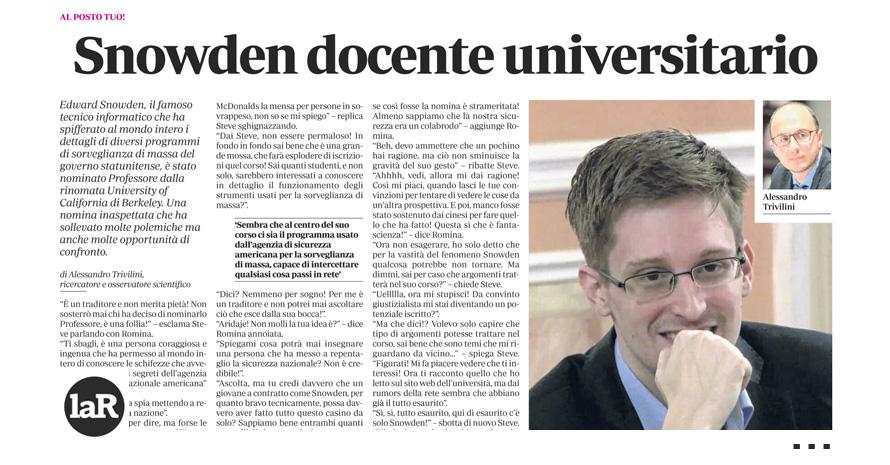 Snowden docente universitario