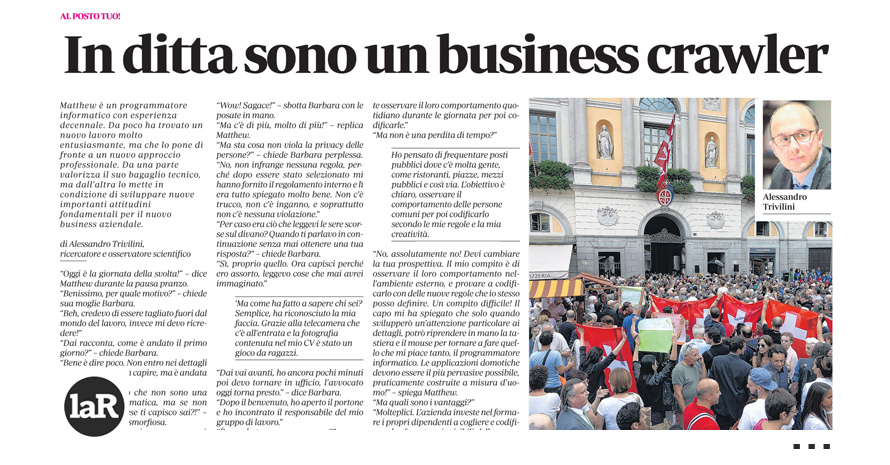 In ditta sono un business crawler