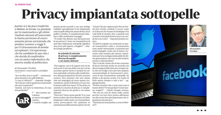 Privacy impiantata sottopelle