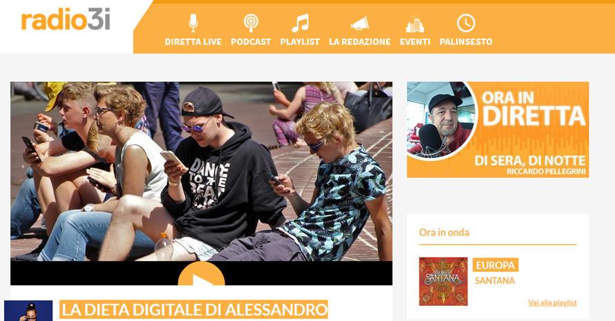 dieta digitale sette giorni radio 3i